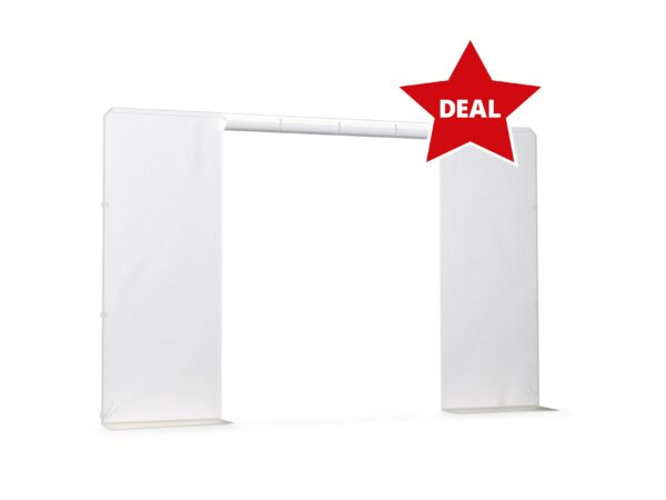 White Canopy Europ Side Panel 3m with Door